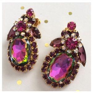 Vintage Juliana D&E Watermelon Floret Clip Earring